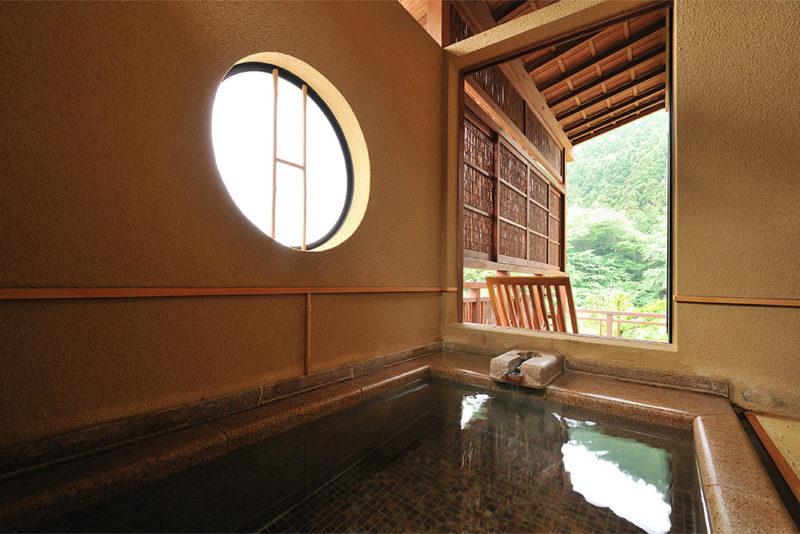 【欅】竹と石の半露天風呂付き客室メイン画像