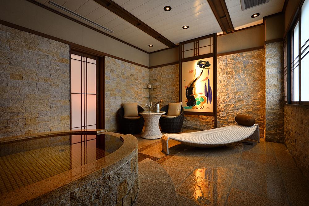 【竹】専用バスルームとダイニング付きの特別室メイン画像