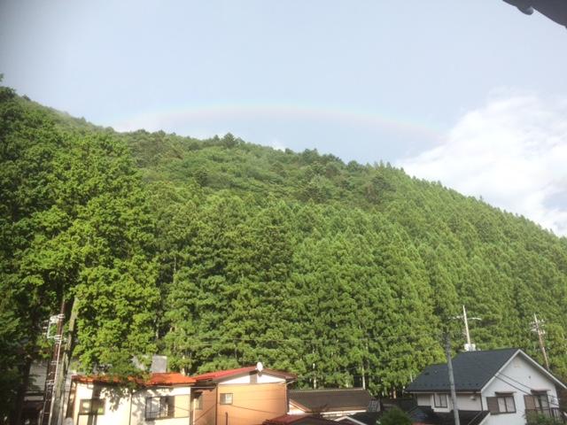 四万温泉の虹