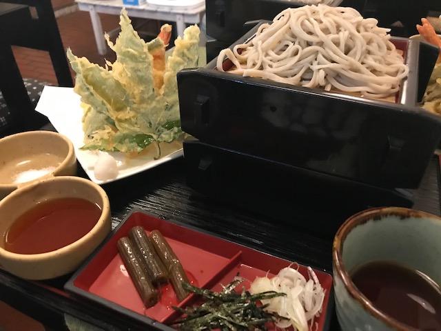中島屋さんの天ザル蕎麦