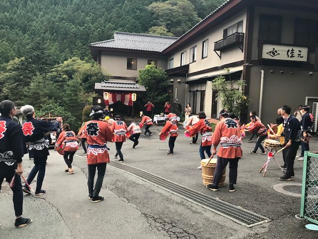 四万温泉秋祭り